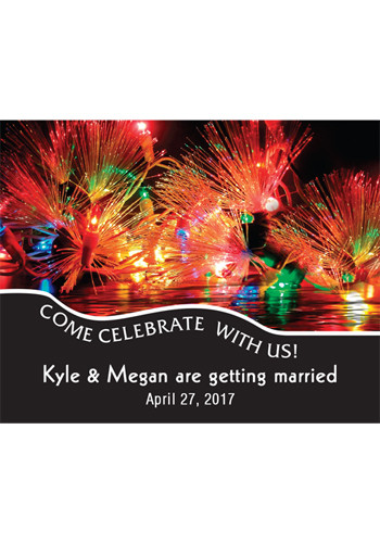 Celebration Lights Save the Date Magnets | MGS217T