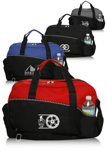 Custom Center Court Duffle Bags
