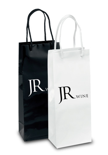 Personalized Chablis Gloss Paper Wine Bags