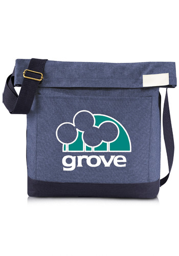 Promotional Chambray Foldover Tablet Tote Bags