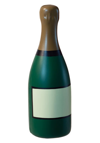 Personalized Champagne Bottle Stress Balls