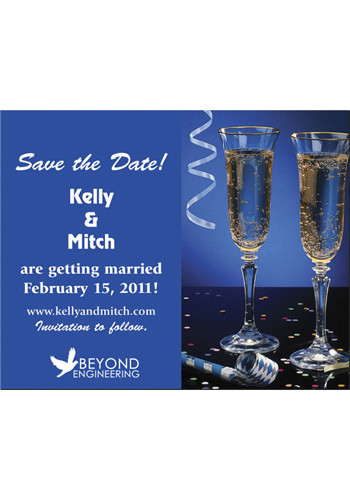 Bulk Champagne Glasses Save the Date Magnets