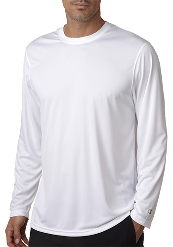 Adult Double Dry Long Sleeve Interlock T-Shirts