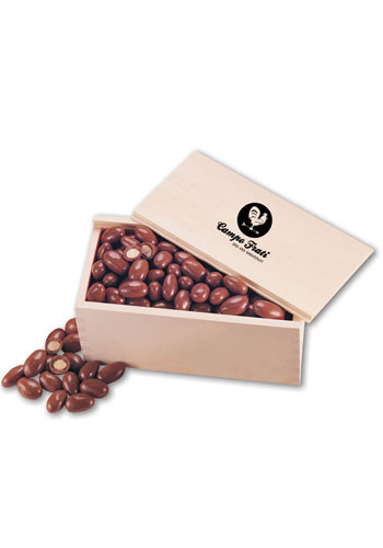 Chocolate Covered Almonds in  Wooden Collectors Box | MRK124