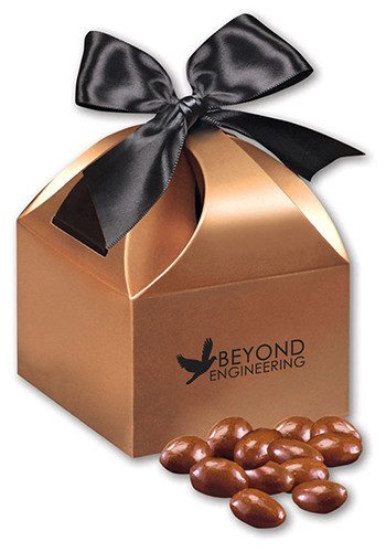 Chocolate Covered Almonds in  Copper Gift Box | MRCCT124