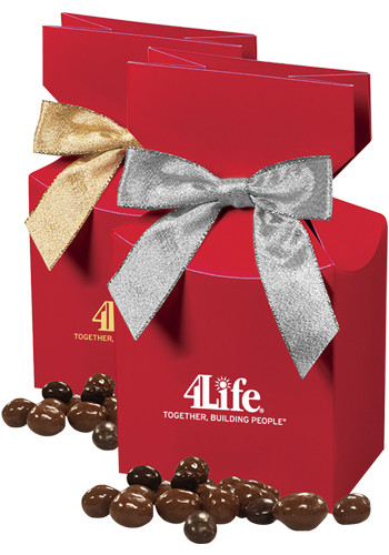 Chocolate Covered Peanuts in Red Gift Box | MRRPD139