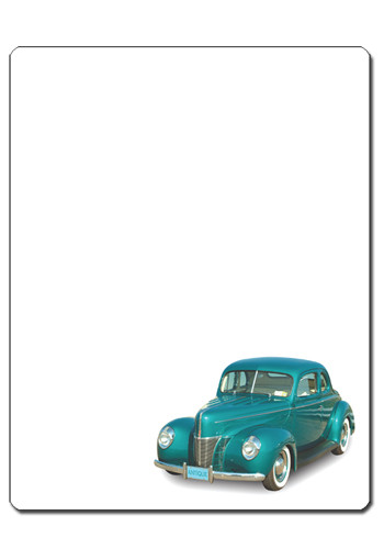 Personalized Classic Car 11in x 8.5in Magnets