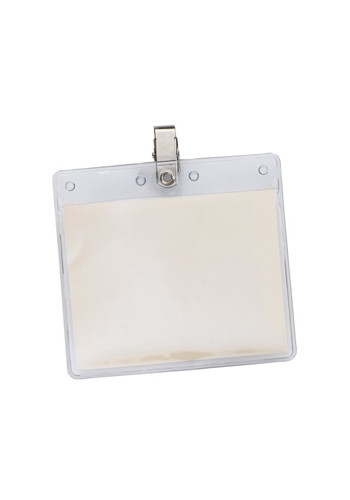 Clear Horizontal Vinyl Pouches with Clip | SUVP1