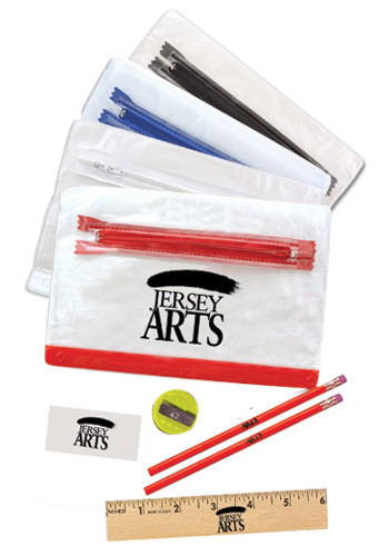 Clear Vinyl School Kit Pouches | AK05010