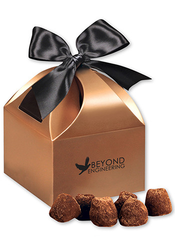 Cocoa Dusted Truffles in  Copper Gift Boxes | MRCCT143