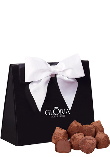 Cocoa Dusted Truffles in  Black Gift Box | MRBTB143