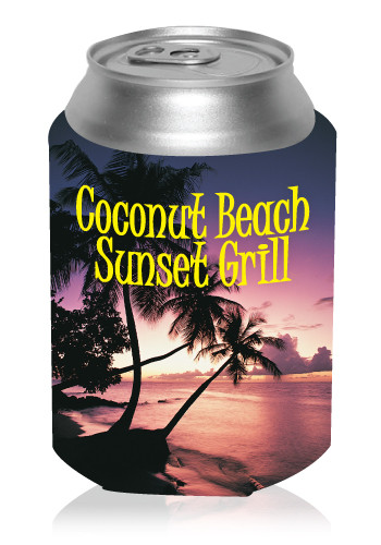 Collapsible Beach Sunset Can Cooler #KZ271