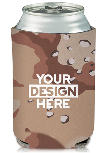 Brown Camo Can Cooler