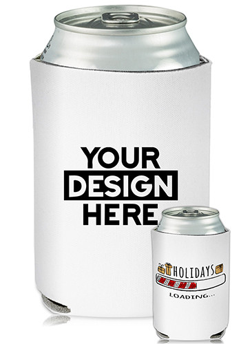 Collapsible Can Coolers Holidays Loading Print| KZ465