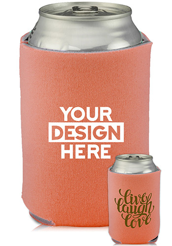 Collapsible Can Cooler Live Love Laugh Print   KZ454