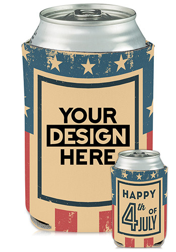 Collapsible Can Coolers 4th of July Print| KZ481