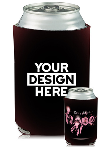 Collapsible Can Coolers Breast Cancer Hope Print| KZ458