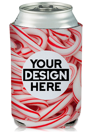 Collapsible Can Coolers Candy Cane Print| KZ468