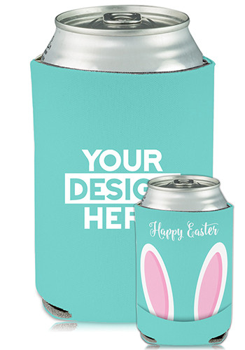 Collapsible Can Coolers Easter Bunny Ears Print| KZ472