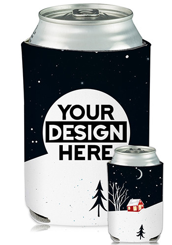 Collapsible Can Coolers Holiday Print| KZ469