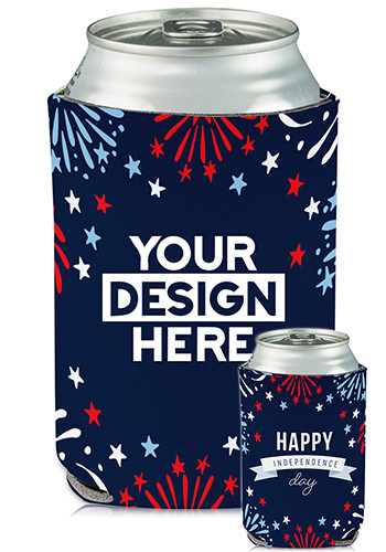 Collapsible Can Coolers Independence Day Print| KZ480