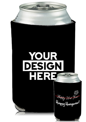 Collapsible Can Coolers New Years Print| KZ477