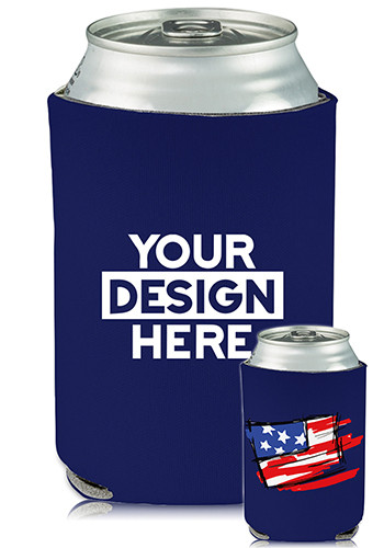 Collapsible Can Coolers Patriotic Print| KZ484