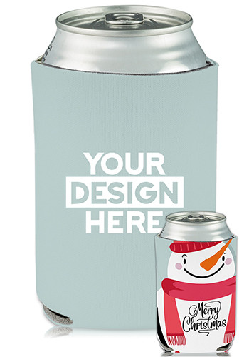 Customized Collapsible Can Coolers Snowman Print