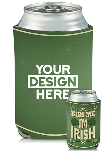 Collapsible Can Coolers St Patricks Theme Print| KZ486