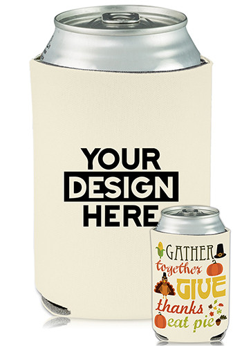 Collapsible Can Coolers Thanksgiving Print | KZ490