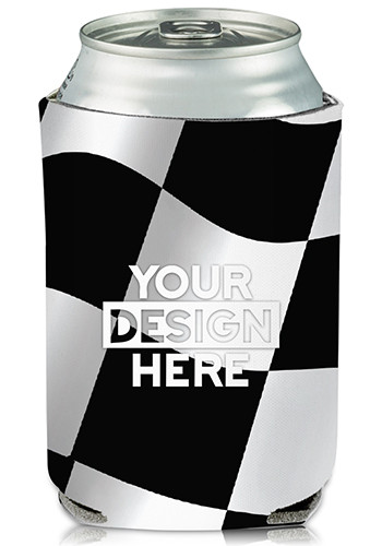 Collapsible Checkered Can Cooler #KZ146