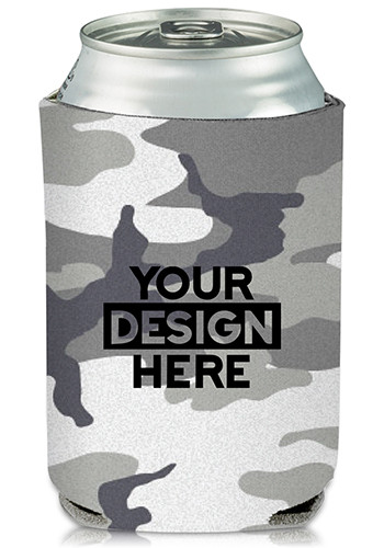 Grey Camo Can Cooler
