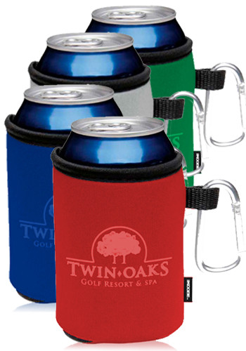 Collapsible KOOZIES Can Kooler with Carabiner #BG45822