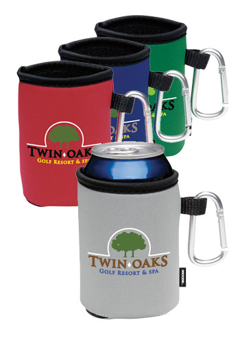 KOOZIE Collapsible Custom Can Koolers with Carabiner #X10686