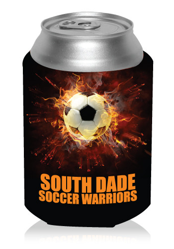 Soccer Fire Can Coolers