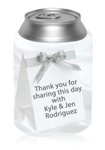 Silver Ribbon Can Cooler