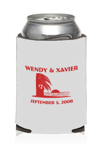Collapsible Wedding Can Cooler #KZW21