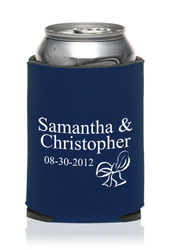 Personalized Collapsible Wedding Can Cooler KZW45 Discount Mugs
