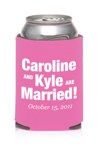 Collapsible Wedding Can Cooler #KZW51