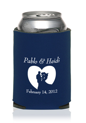 Collapsible Wedding Can Cooler #KZW55
