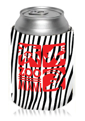 Custom Zebra Can Coolers