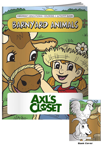 Bulk Coloring Books Barnyard Animals
