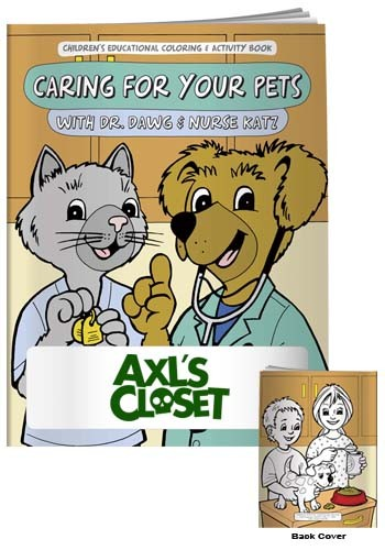Promotional Coloring Books: Caring for Pets