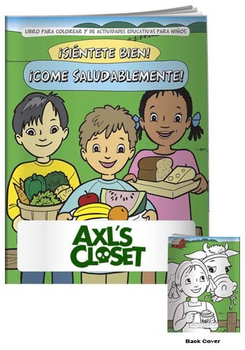 Coloring Books: Eat Healthy in Spanish | X11116