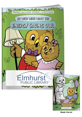 Coloring Books: Energy Saving Owl | X11108