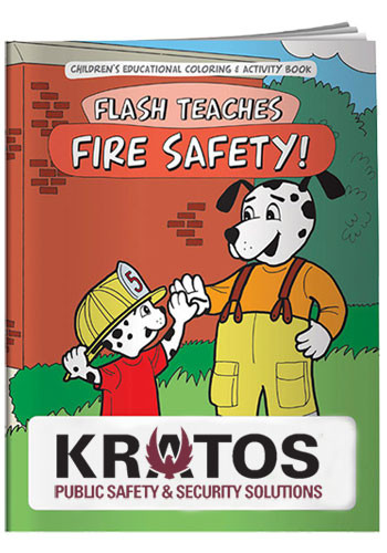 Customized Coloring Books: Flash Teaches Fire Safety