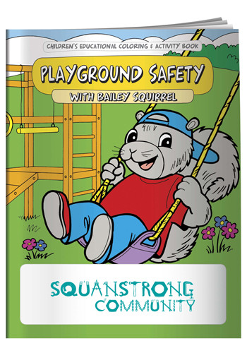 Personalized Coloring Books: Playground Safety