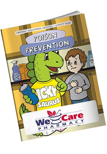 Wholesale Printed Coloring Books: The Poison Prevention Dinosaur