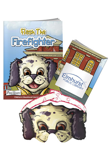 Bulk Coloring Books with Mask: Flash the Firefighter