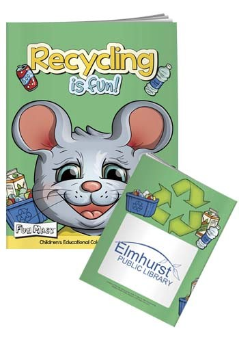 Custom Coloring Books with Mask: Recycling Is Fun